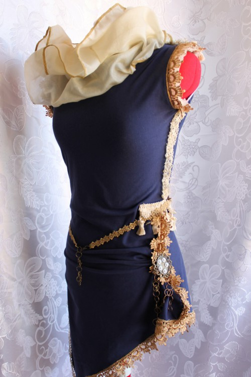 Circus Asymmetrical Hemline Dress, Various Colours