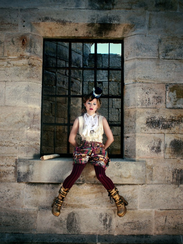 Victorian-Inspired Costume - Romantic Top & Suspender Pantaloons Handmade in Australia