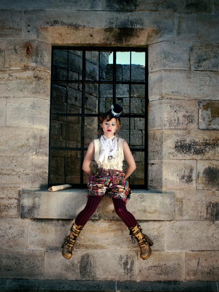 Victorian-Inspired Costume - Romantic Top & Suspender Pantaloons Handmade in Australia