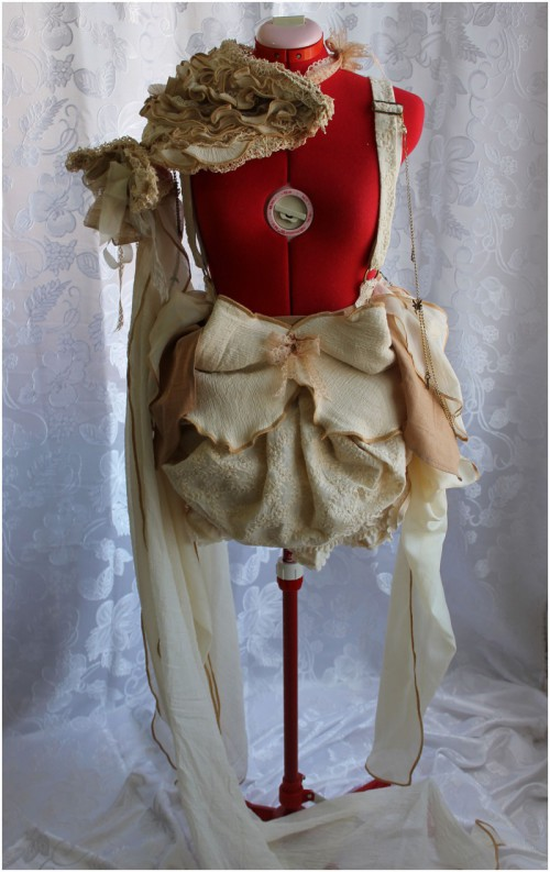 'Bird Nest' Fall/Autumn Wedding Bustle Costume