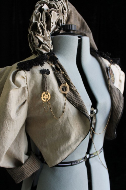 Women's Linen Steampunk Jacket Custom Made in Australia