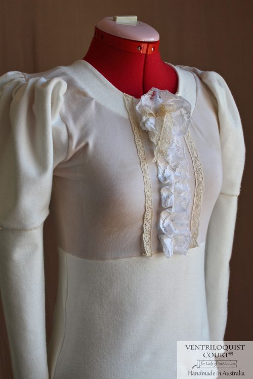 Romantic Victorian-Inspired Lolita Blouse with Long Puffy Sleeves
