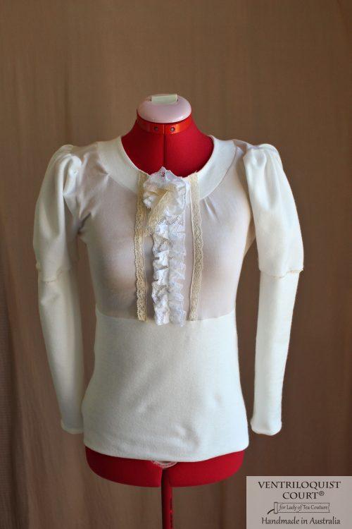 Organic Cream Cotton Victorian Style Blouse