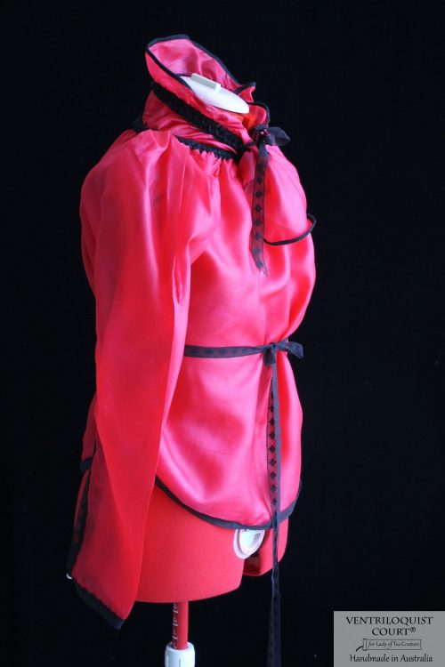 High-neck Collar Sheer Blouse Made in Australia