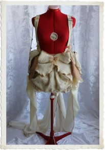 Cottage Wedding Costume with Long Trail Custom-Made in Australia