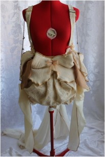 Eco-friendly Flower Petals Bustle Skirt with Suspenders