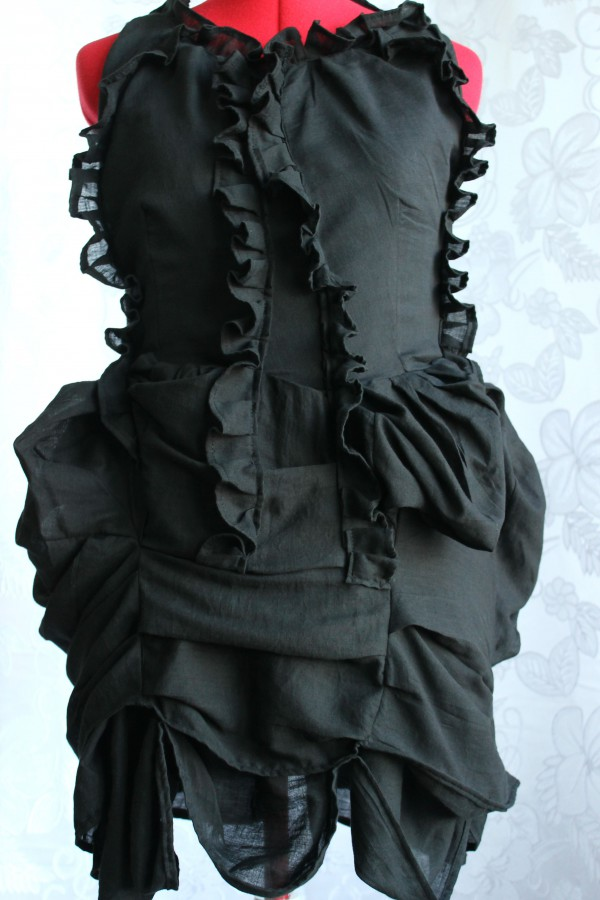 Pleated Bustle Dress Made in Australia