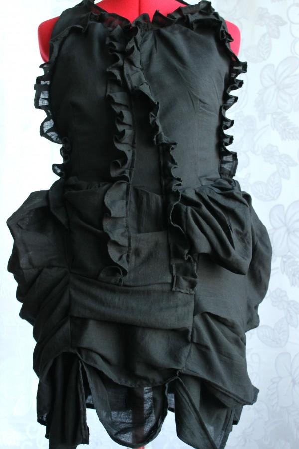 Pleated Bustle Dress Made in Australia