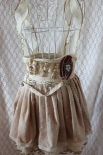 Steampunk Mini Skirt with Scrolls
