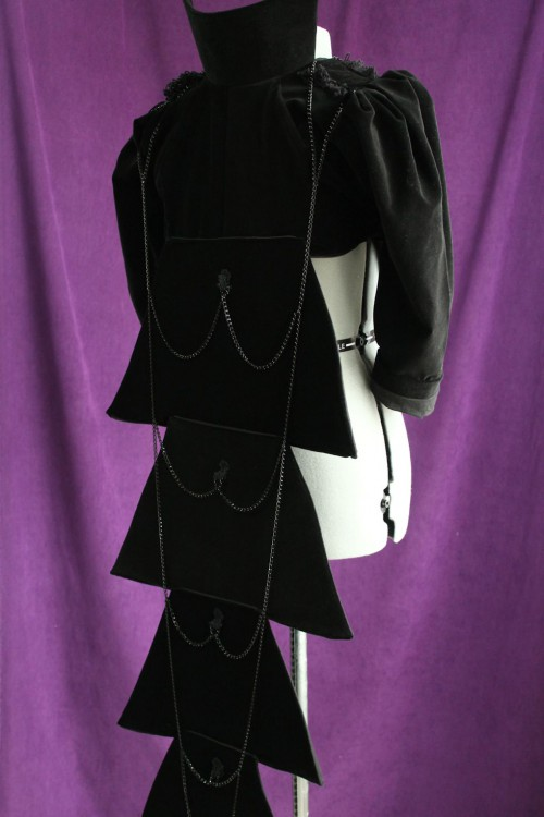 Black Victorian-style Visual Kei Jacket