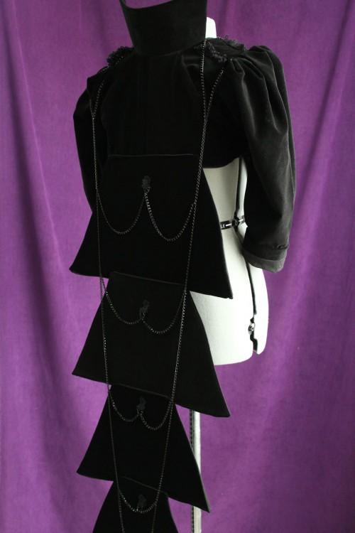 Black Victorian-style Visual Kei Jacket