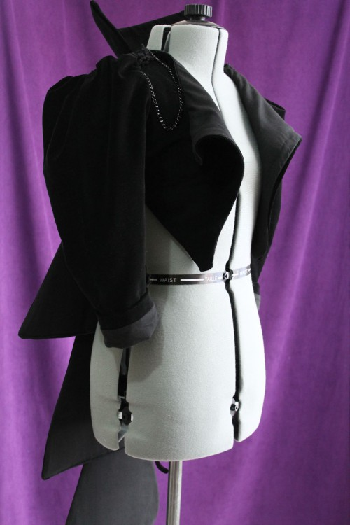 Black Vampire Style Jacket Made in Australia