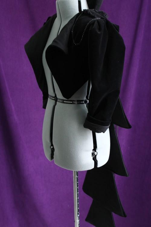 Black Velveteen Avant-Garde Jacket