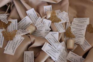 Ventriloquist Court's Garment Labels (with Black Lettering)