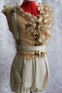 Steampunk Circus Vintage Style Vest with Pantaloons