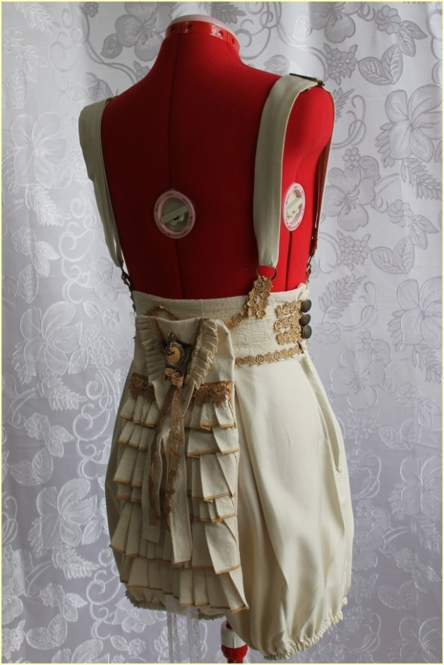 Steampunk Ruffle Pantaloons with Suspenders