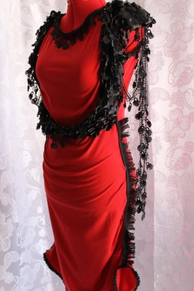 Gothic Dress with Lace Details