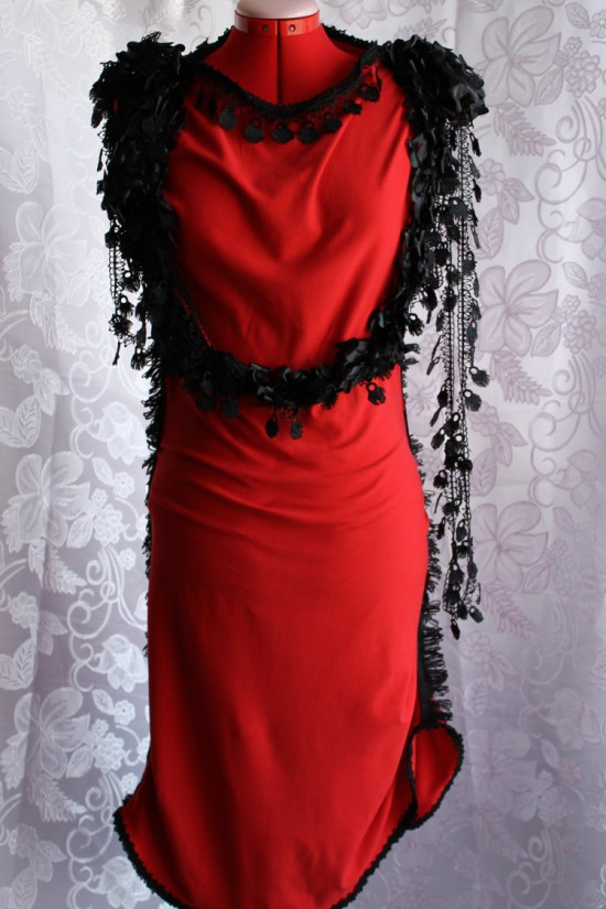 Black Roses Fantasy Dress Made in Australia