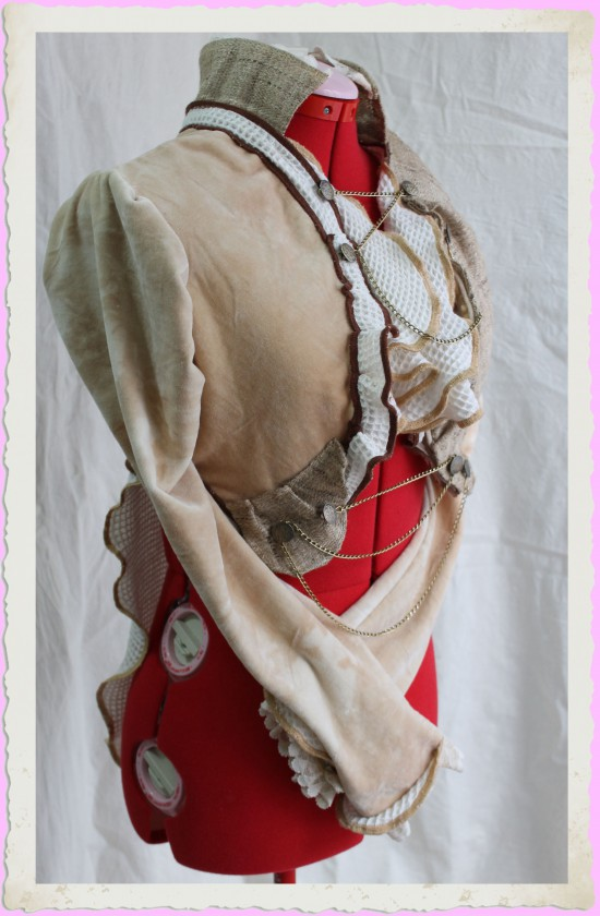 Eco-friendly Organic Steampunk Woodland Tailcoat with Ruffles