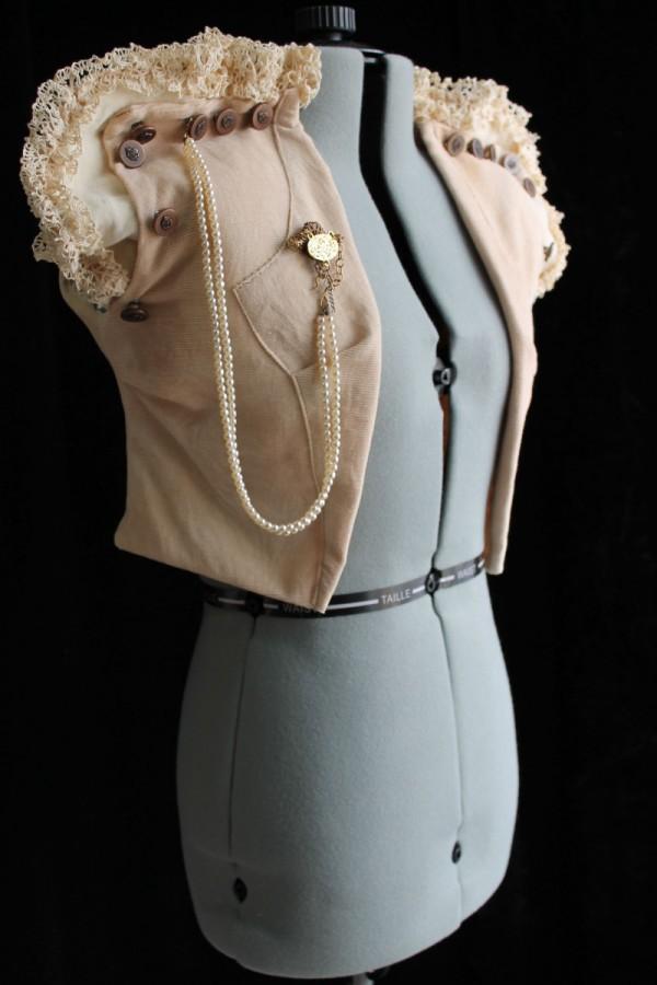 Neo-Victorian Organic Cotton Corduroy Vest