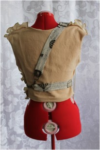 BACK: Steampunk 'Officer' Vest with Harness and Brass Brooches