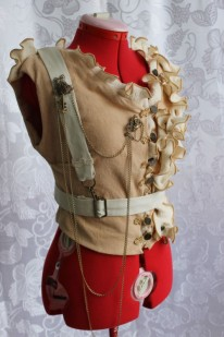 Vintage Style Steampunk Vest with Harness
