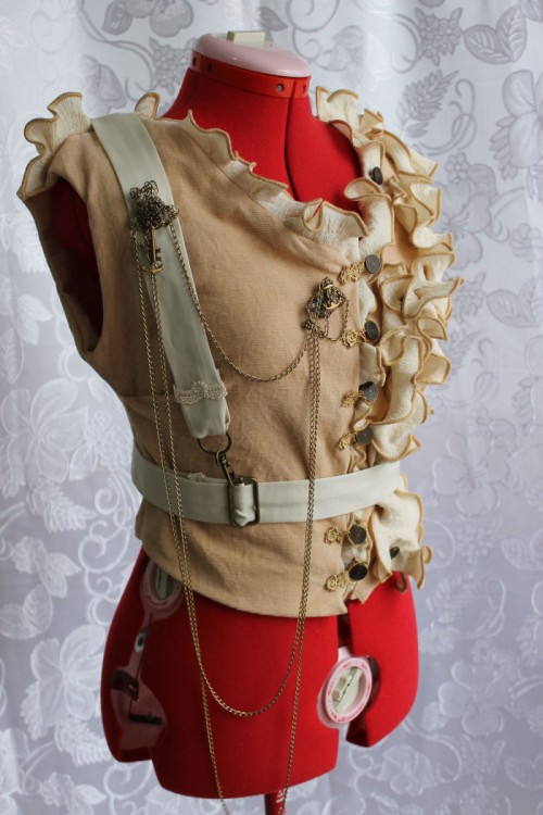 Steampunk Vest with Harness - Alternative Clothing Store Ventriloquist Court®