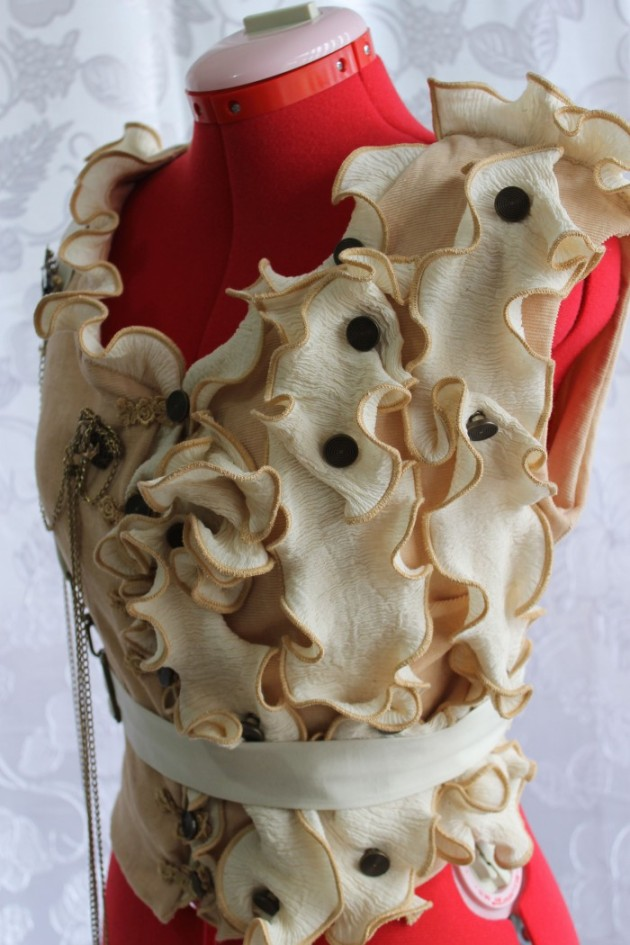 Ruffle Steampunk Vest with Harness