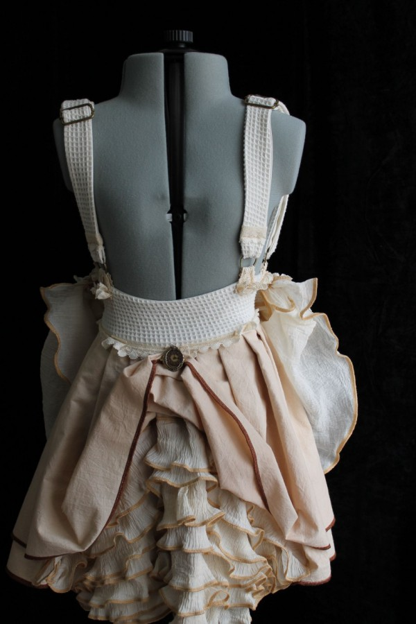 Romantic Woodland Skirt with Vintage 'Pearls' & Ruffles