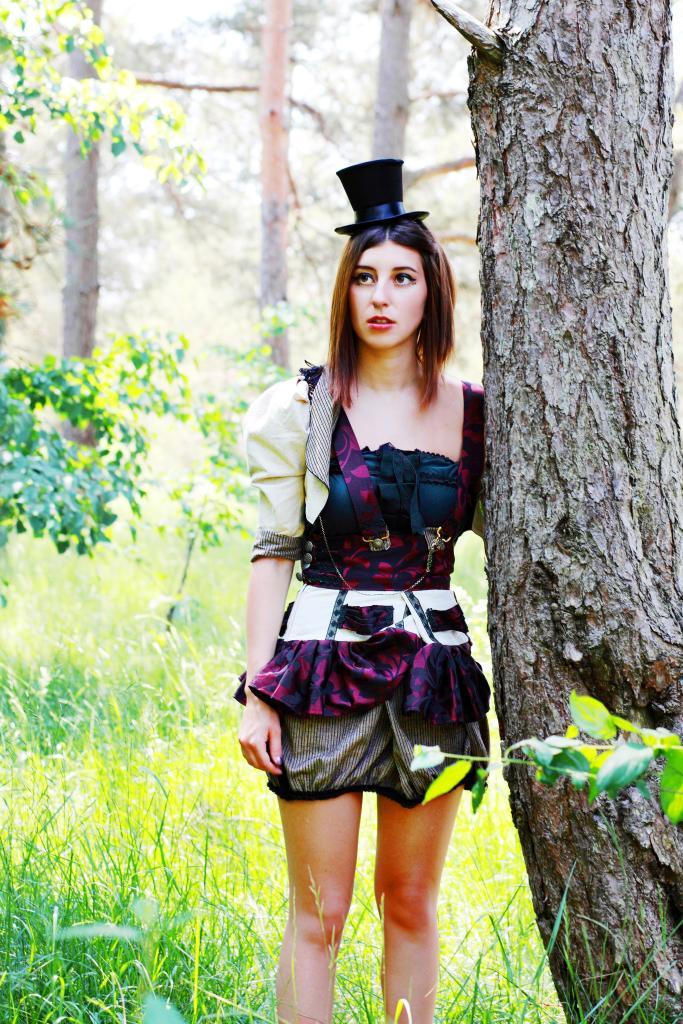Steampunk, Circus, Visual Kei Style Suspender Skirt