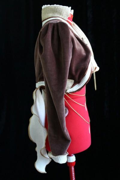 Dark Brown Organic Velvet Steampunk Tailcoat