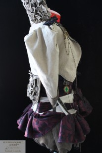 Steampunk Linen Bustle Dress Made in Australia