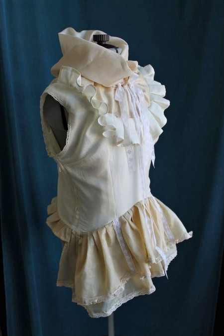Eco SIlk Peplum Ruffle Blouse Made in Australia
