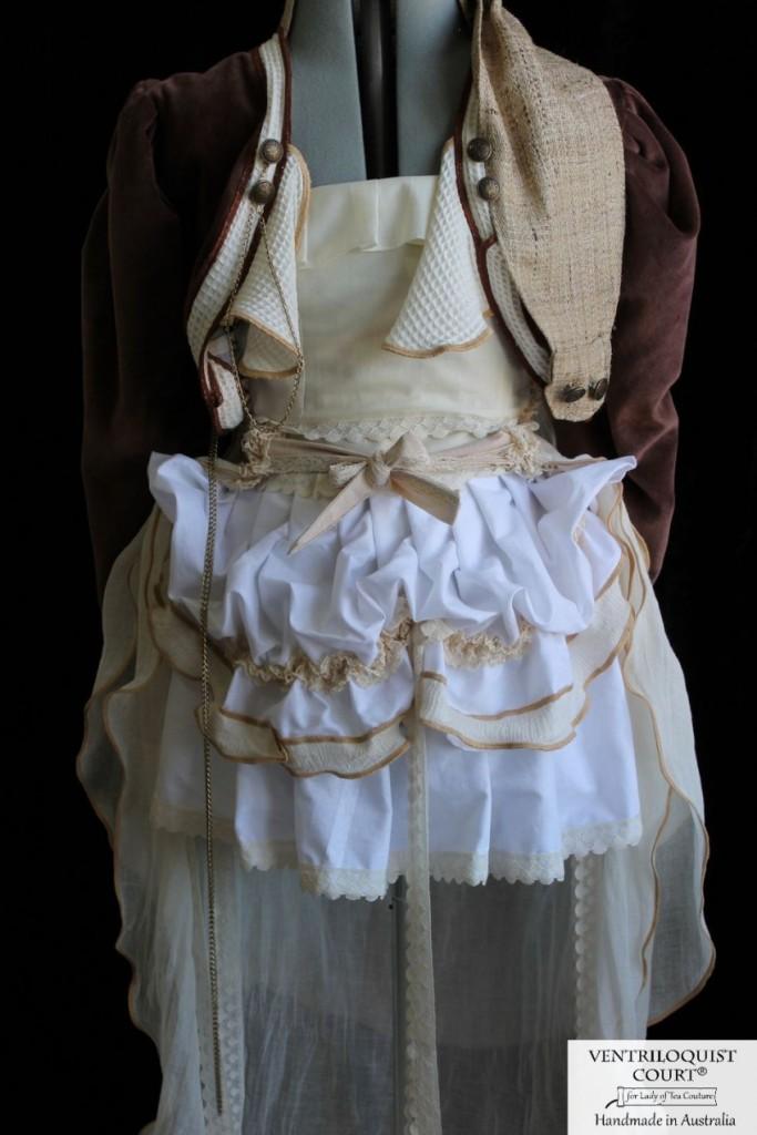 Rustic Steampunk Bustle Skirt & Organic Velvet Tailcoat