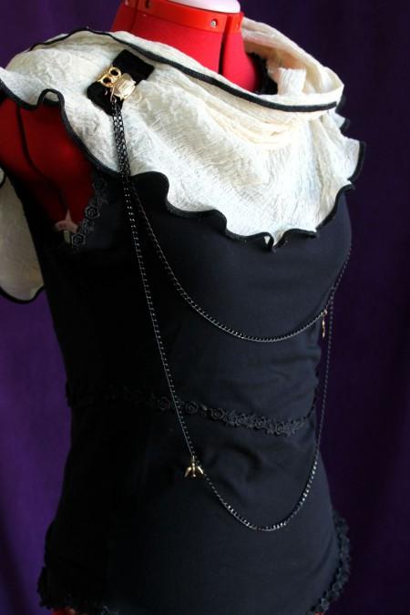 Black & white Visual kei cotton blouse