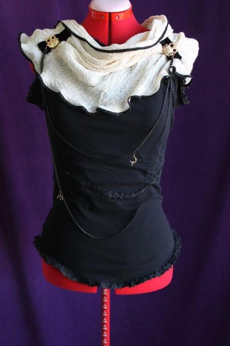 Black Cotton Visual Kei Top