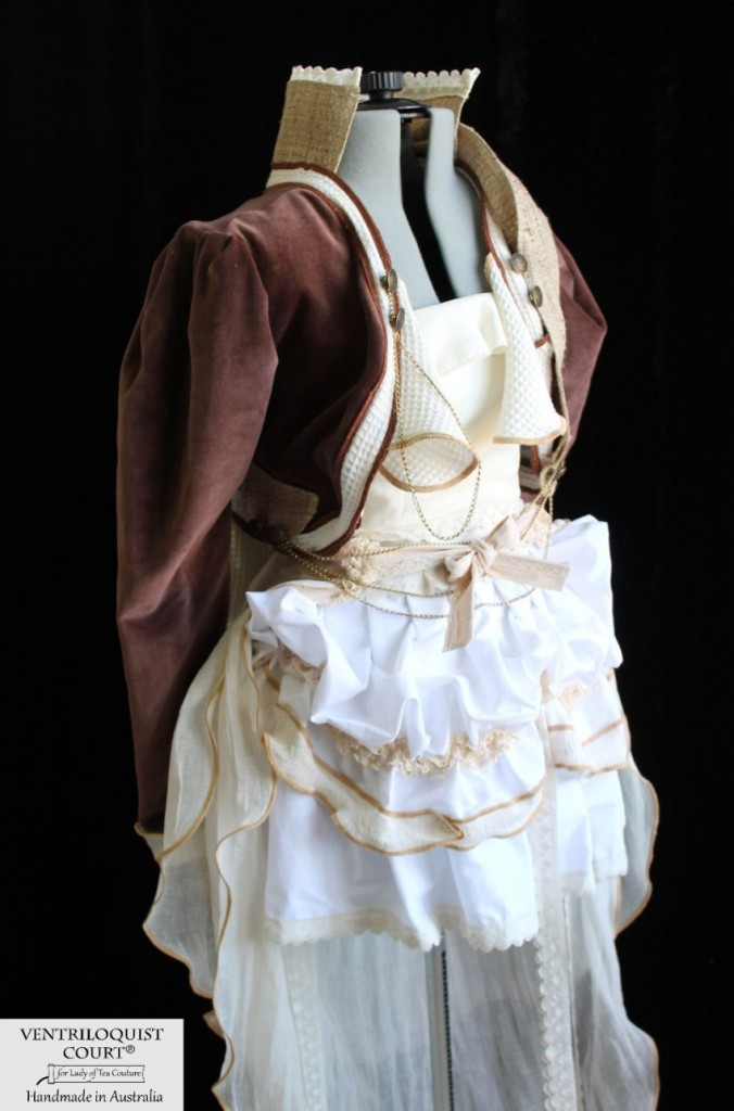 Custom Steampunk Woodland Bustle Costume Made in Australia