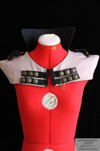 Military Style Steampunk Capelet - Made in Australia