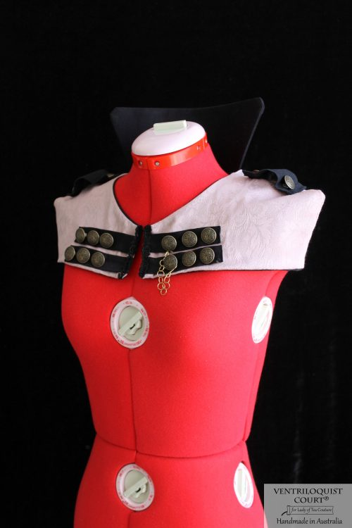 Steampunk, Circus, Military, Visual Kei Style Capelet with Epaulettes