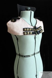 Steampunk, Officer, Visual Kei Style High-neck Collar
