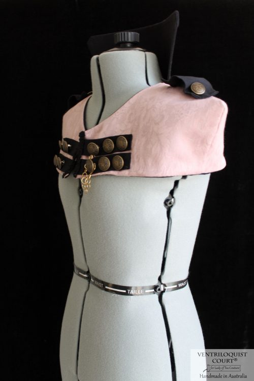 Steampunk Circus High Neck Cotton Capelet