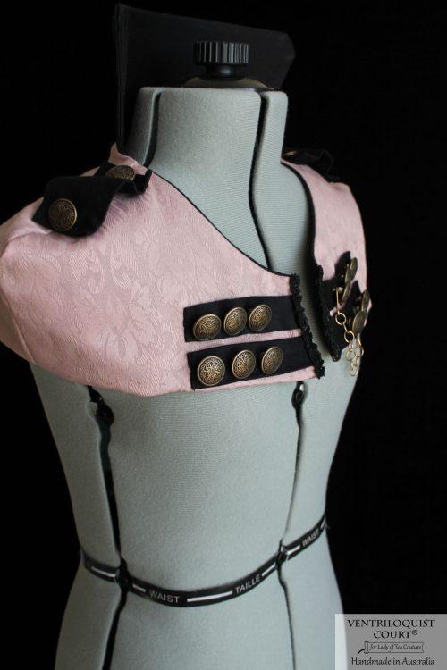 Custom Alternative Fashion Circus Ringmaster High Neck Capelet