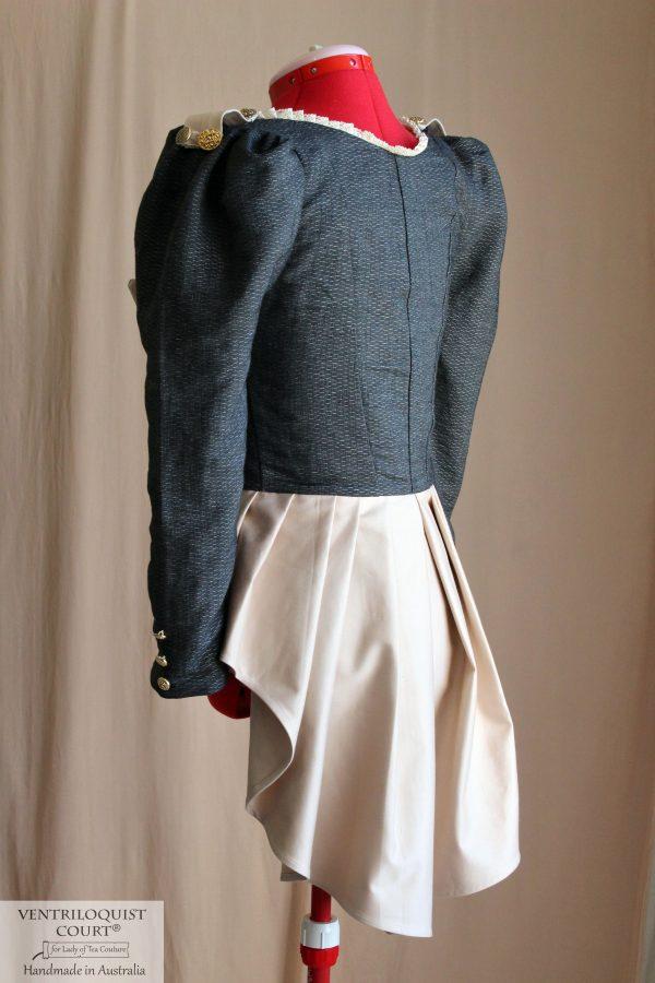 Circus peplum tailcoat jacket - dark charcoal, black, or white