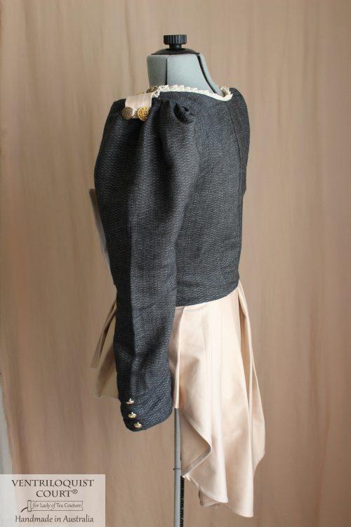 Handmade steampunk attire peplum jacket