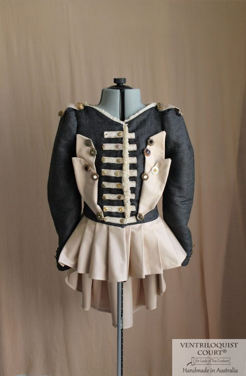 Steampunk jacket for formals and weddings - handmade costume attire