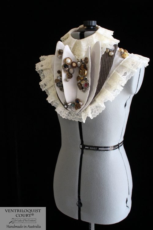 Victorian Pleated Ruffle Lace Neck Collar - Handmade in Australia