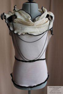 Front: Tea-dyed Asymmetrical Collar Blouse