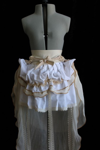 Steampunk Woodland Mini Bustle Skirt with Trail