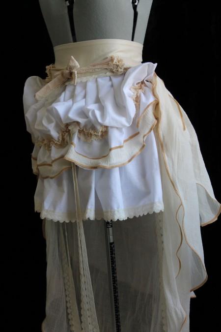 Custom Romantic Steampunk Skirt with Trail