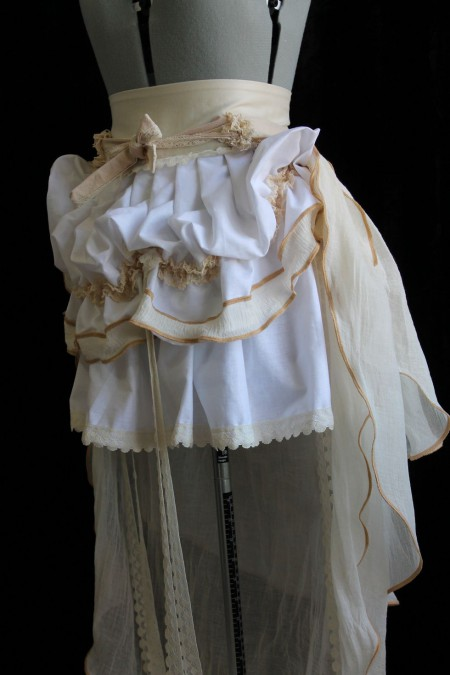 Custom Romantic Steampunk Skirt with Trail